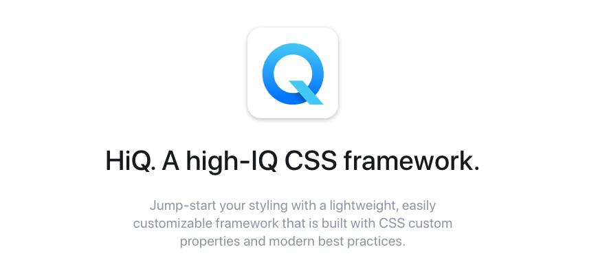 A high-IQ CSS framework