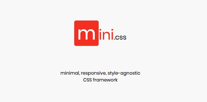 mini.css framework