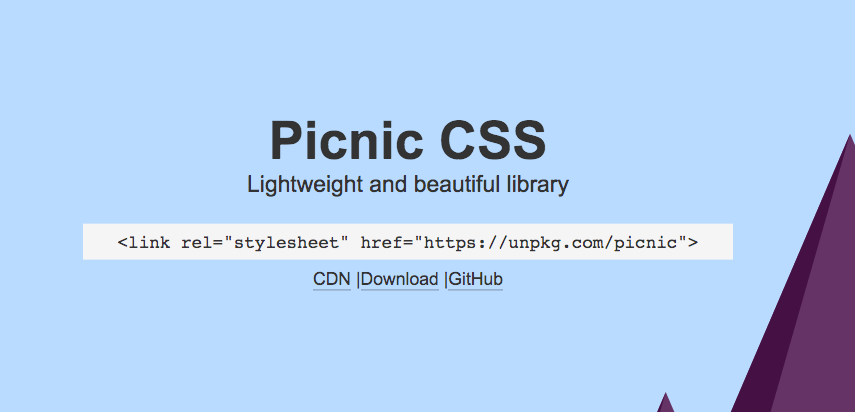 Picnic CSS Library