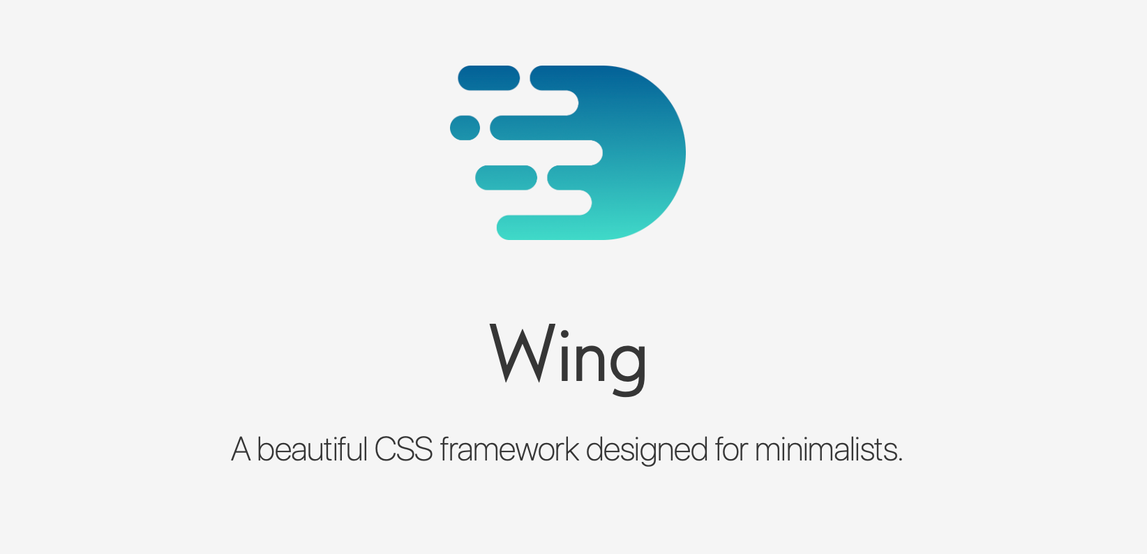 Wing CSS Framework for minimalists