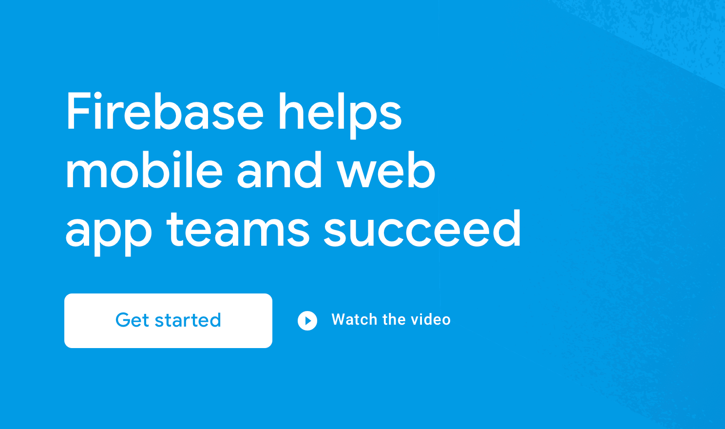 Firebase website screenshot