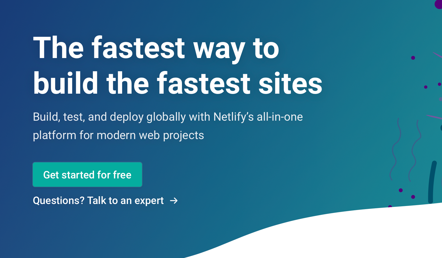 Netlify website screenshot